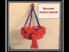 DIY MACRAME HANGING BASKET| How To make Macrame basket Step By Step complete  tutorial - YouTube