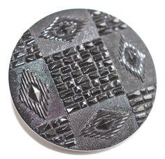 Black Glass Button  Medium by KPHoppe on Etsy  http://www.hoppeglass.com