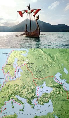 """It is sheer unimaginable that people in such, relatively small, vessels travelled thousands of miles on rivers, seas, and oceans, mostly by rowing!!! More overwhelming even: In December 2014, the remains of a Viking Longship had been found in the Mississippi river, near the Gulf of Mexico!!! Due to demonization by the Christian church, and """"science"""", we can't even begin to understand the greatness of this last, pagan, european, culture!"""