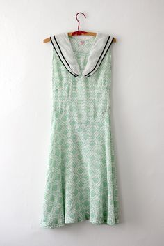 Betty Baxley Sailor Collar Day Dress
