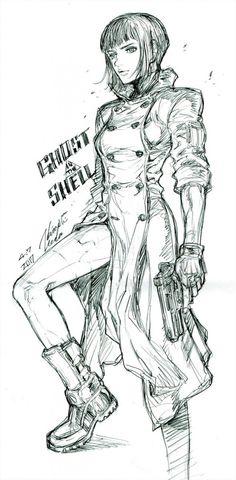 Ghost In The Shell dessiné par le mangaka de Tiger & Bunny !