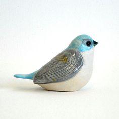 clay bird by ecorock on Etsy