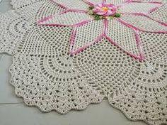 Resultado de imagem para tapete de croche redondo grande com grafico