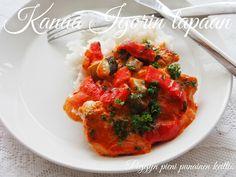 Peggyn pieni punainen keittiö: Kanaa Igorin tapaan Bruschetta, Tandoori Chicken, Favorite Recipes, Eat, Ethnic Recipes, Kitchen, Foods, Kite, Food Food