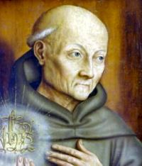 Born in 1380, St. Bernardine of Siena left the world at an early age in order to lead a hermit's life. When he was twenty-two, he entered the Franciscan Order, one of whose glories he is. Having been made General of the Order, he resigned this charge in order to devote himself to preaching. He