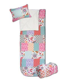 Another great find on #zulily! Turquoise Brookdale Three-Piece Sleeping Bag Set #zulilyfinds