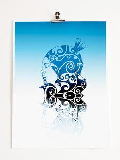 Bronwyn Waipuka Kura Gallery Maori Art Design New Zealand Mana Wahine Series Framed Digital Print Featured Artist Frank Morrison Art, Hawaiian Tribal, Hawaiian Tattoo, Polynesian Art, Maori Designs, New Zealand Art, Nz Art, Nordic Tattoo, Maori Art