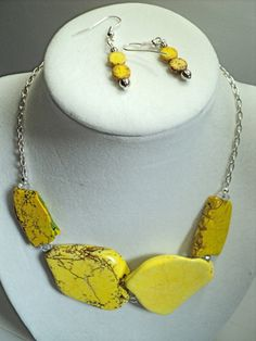 Yellow  Magnesite Turquoise Slab  by DesignedInStone on Etsy, $22.00