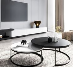 Round Nesting Coffee Tables, Coffe Table, Coffee Table Design, Living Room Interior, Home Living Room, Living Room Designs, Living Room Decor, Home Bar Rooms, Center Table Living Room