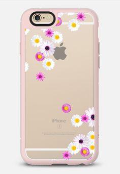 FLOWER RAIN iPhone 6 case in Pink Gray & Clear by @monikastrigel | @casetify
