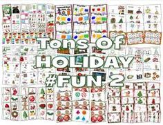 Enter to Win - Includes 16 Fun Holiday (Hand-On - Interactive) Christmas Activities …1.Christmas Gifts Color Cards2.Christmas Count to 5 Puzzlers3.Christmas Cut-n-Paste Fun4.Countdown Booklet 12 Days of Christmas5.Emergent Reader: My Book of GREEN6.Emergent Reader: My Book of RED     7.Holiday Time Sort