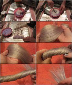 Hair tutorial: blond clip in hair extensions dip dye in silver