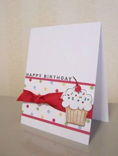 CAS08 Crazy for Cupcakes Birthday by LaLatty - Cards and Paper Crafts at Splitcoaststampers