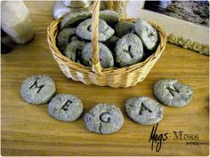 Cement Letter Rocks