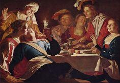 Gerrit Van HONTHORST Le fils prodigue 1622 Munich h/t  125x157cm