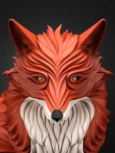 animal vector art by Maxim Shkret.  Here, predators take centre stage in a new vector art project series. Colours have been specially selected to create perfect shading and curve on each animal's face. The black background simply makes these portraits all the more striking and effortlessly brings the vector graphic series together. together.http://www.creativebloq.com/computer-arts/predators-prowl-these-3d-effect-vector-portraits-41411225