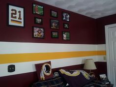 #Redskins themed room sent in by Tracey.