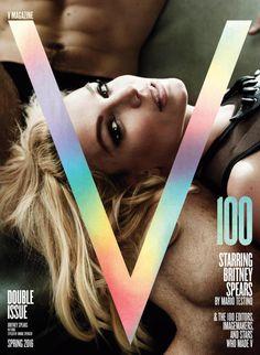 Britney Spears posa sensual para 100ª edição da V Magazine