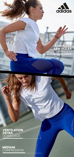 No matter what the day throws at her, she's ready to go. The new warp knit collection from adidas takes her seamlessly from the gym to the office and everywhere in between. It's the connective thread that weaves together her need for comfort, performance, and style over the course of her crazy day. Shop the collection today.