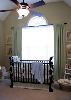 A perfectly peaceful Peter Rabbit nursery with Anastasia Crib! Love!