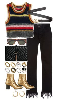 """Untitled #10708"" by nikka-phillips ❤ liked on Polyvore featuring 3x1, Gucci, Yves Saint Laurent, ASOS, Boohoo, Topshop and Maison Margiela"
