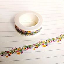 Adhesive Tape Type: Single-Side Tapetype: adhesive tapematerial: washi papersize: Natural Flower Washi Tapeadhesive tape side: single-side tapeusage: for scrapbooking and gift packingweight: number: Washi Tape Diy, Masking Tape, Washi Tapes, Diy Japonais, Tapas, China Crafts, Cute School Supplies, Japanese Paper, Cherry Blossom