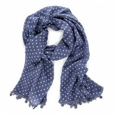 Polka Dot Scarf. im so in to scarves this winter...it's been a cold mofo in MO this winter!
