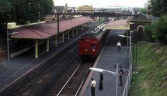 A St Kilda bound Tait electric suburban train slows to a stop at South Melbourne in 1981 Perth, Brisbane, Melbourne, Sydney, South Australia, Western Australia, Rapid Transit, St Kilda, Swans