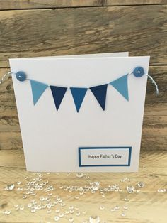 Handmade Fathers Day Card Happy Fathers Day by ButterflyBoxCards