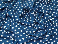 Spotty Print Viscose Challis Dress Fabric | Fabric | Dress Fabrics | Minerva Crafts Viscose Fabric, Cotton Fabric, Minerva Crafts, Dressmaking Fabric, Draped Fabric, Fabric Patterns, Printing On Fabric, Fabrics, Prints
