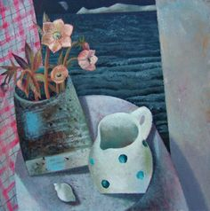 Night Hellebore and Pippi's Jug by Clive Hicks-Jenkins, 2006