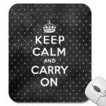 Keep Calm Im a Football Playa Mouse Pad