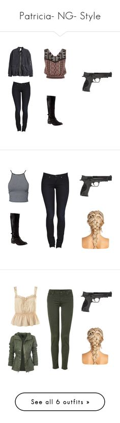 """""""Patricia- NG- Style"""" by inestrindade on Polyvore featuring H&M, Steve Madden, Smith & Wesson, Estradeur, 7 For All Mankind, Veda, Topshop, Timberland, Caliber and WearAll"""