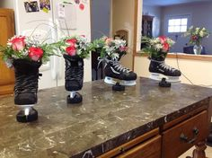 Hockey flower decorations