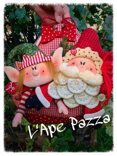 Patrones Santas y elfos 2014: Libro patrón portapanettone padre cerrado y Elf