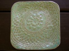 Lace Plate in Green by ShoeHouseStudio on Etsy, $15.00