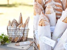 What is it with vintage wire baskets and rustic loaves of bread wrapped in twine that make me pause to take a second glance?