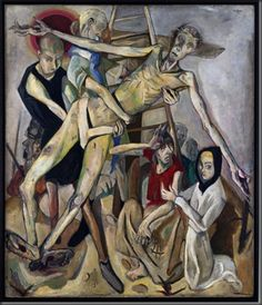 Max Beckmann (1917) Max Beckmann's Kreuzabnahme (Descent from the cross) presents an unflinching look at bodily suffering—a timely topic in the midst of a seemingly never-ending war