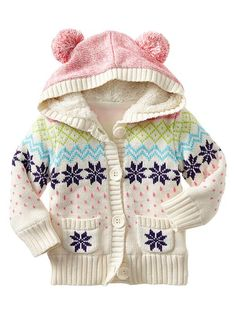 This is friggin adorable.  I don't have a daughter but when I do, I'm going looking for this sweater.