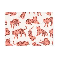 Neon Tigers! Card On Recycled Paper | Hand Made