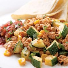Southwestern Tofu Scramble - Vegan cheese would make it perfect for me. Going to give it a try.