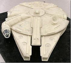 Millennium Falcon Cake made by Mike's Amazing Cakes