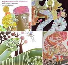Why Mosquitoes Buzz in People's Ears: A West African Tale, written by Verna Aardema, illustrated by Leo and Diane Dillon.