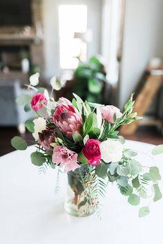 Loose flower arrangement