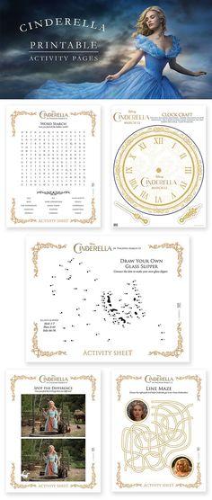 Printable Cinderella activity pages
