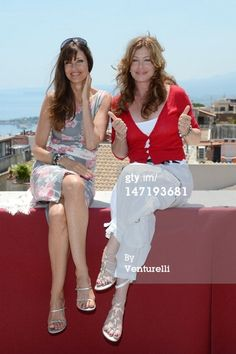 News Photo :TAORMINA, ITALY - JUNE 27: Carol Alt and Kelly LeBrock pose at the photocall of Day 5 during the 58th Taormina Film Fest on June 27, 2012 in Taormina, Italy