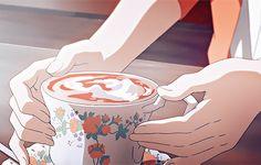 Coffee Manga Anime Art - My Virtual Coffee House Anime Gifs, Manga Anime, Anime Art, Anime Kawaii, Anime Coffee, Japon Illustration, Image Manga, Hyouka, Anime Kunst