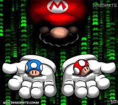 Dragonarte 2013 - Mario Matrix mash-up Super Mario Bros, Super Mario World, Super Nintendo, Super Mario Tattoo, Mario Brothers, 80s Cartoon Shows, Mario E Luigi, Gamers Anime, Amazing Drawings