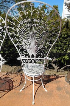 Vintage Salterini Peacock Chairs In 2019 Wicker Wrought