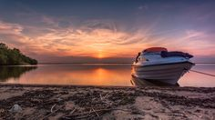 Boat by AndrzejAntczak sky lake sunset boat sun Poland Boat AndrzejAntczak Photos Of The Week, Landscape Photography, Travel Photography, Virtual World, Tourism, Road Trip, Places To Visit, Around The Worlds, Boat
